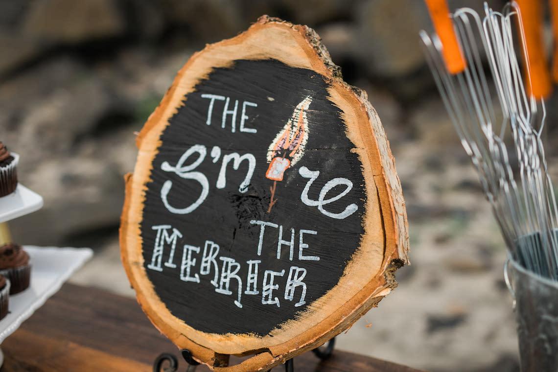 Cannon Beach Bonfire Wedding With Smores – Marina Goktas Photography 5