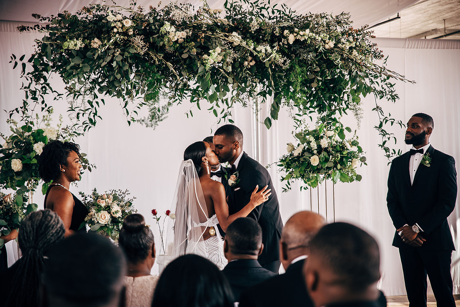 Glamorous and Industrial North Carolina Loft Wedding – Three Region Photography 34