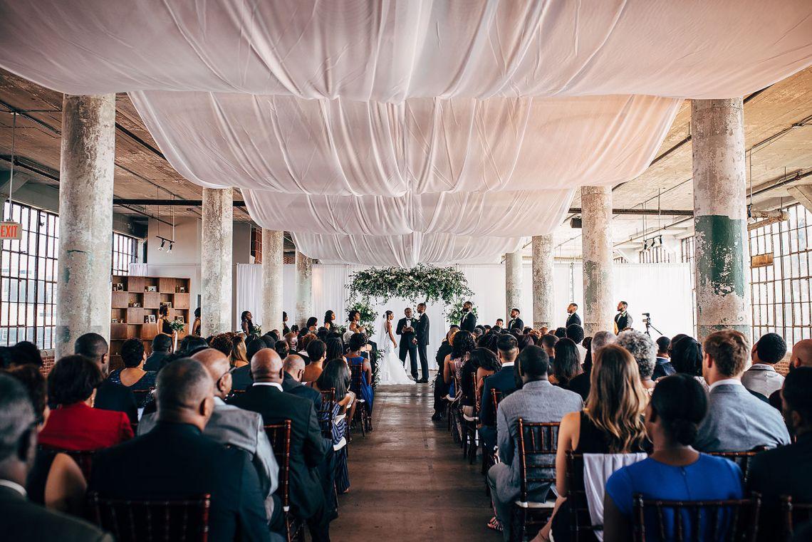 Glamorous and Industrial North Carolina Loft Wedding – Three Region Photography 41