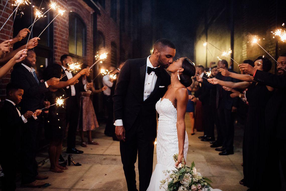 Glamorous and Industrial North Carolina Loft Wedding – Three Region Photography 46