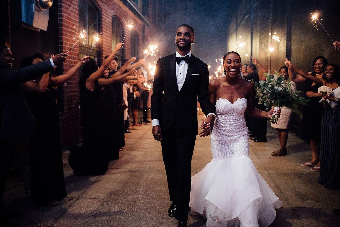 Glamorous and Industrial North Carolina Loft Wedding – Three Region Photography 47