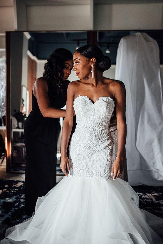 Glamorous and Industrial North Carolina Loft Wedding – Three Region Photography 9