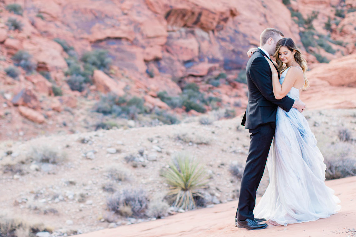 Red Rock Desert Romance With A Whimsical Blue Leanne Marshall Wedding Dress – Elizabeth M Photography 1