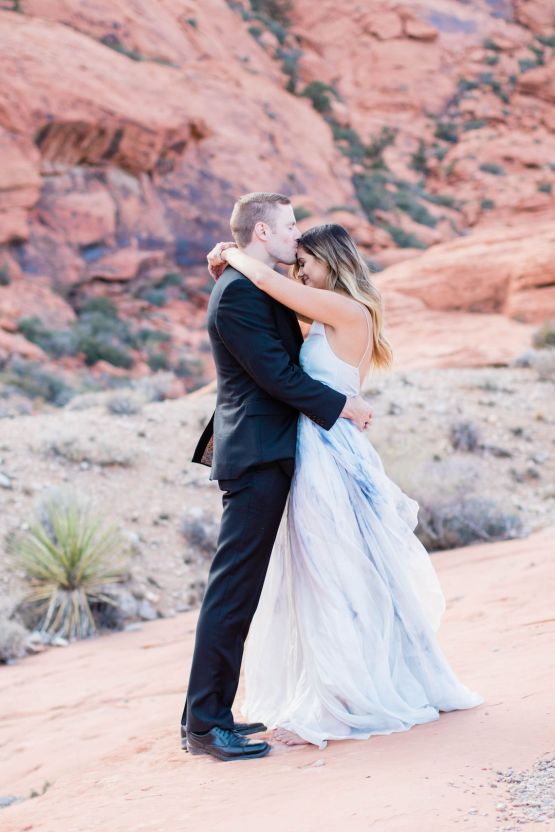 Red Rock Desert Romance With A Whimsical Blue Leanne Marshall Wedding Dress – Elizabeth M Photography 10