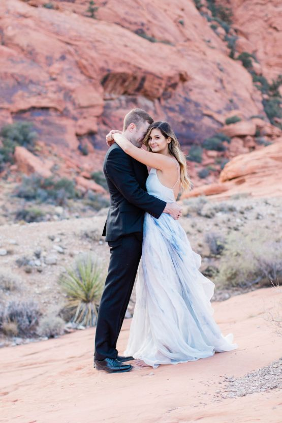 Red Rock Desert Romance With A Whimsical Blue Leanne Marshall Wedding Dress – Elizabeth M Photography 11