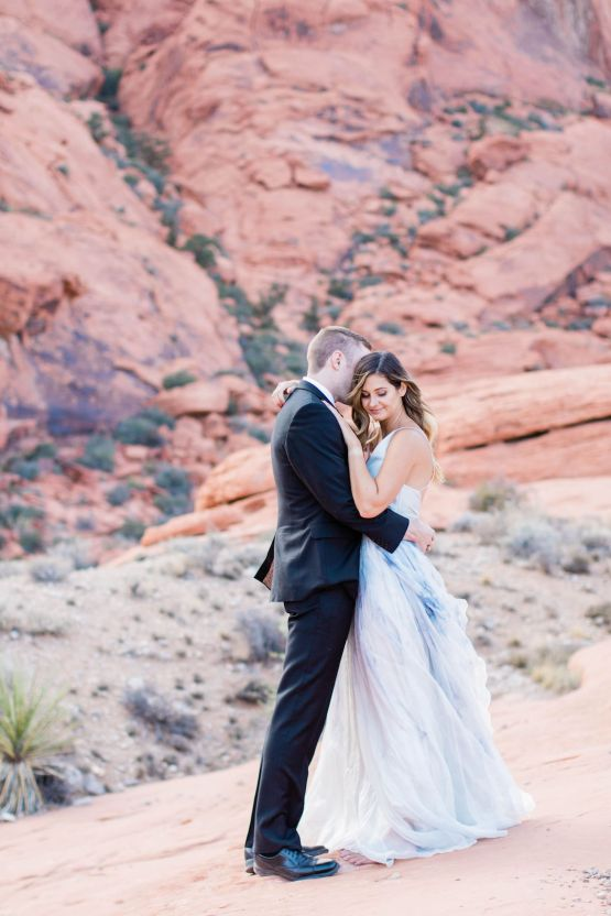Red Rock Desert Romance With A Whimsical Blue Leanne Marshall Wedding Dress – Elizabeth M Photography 12