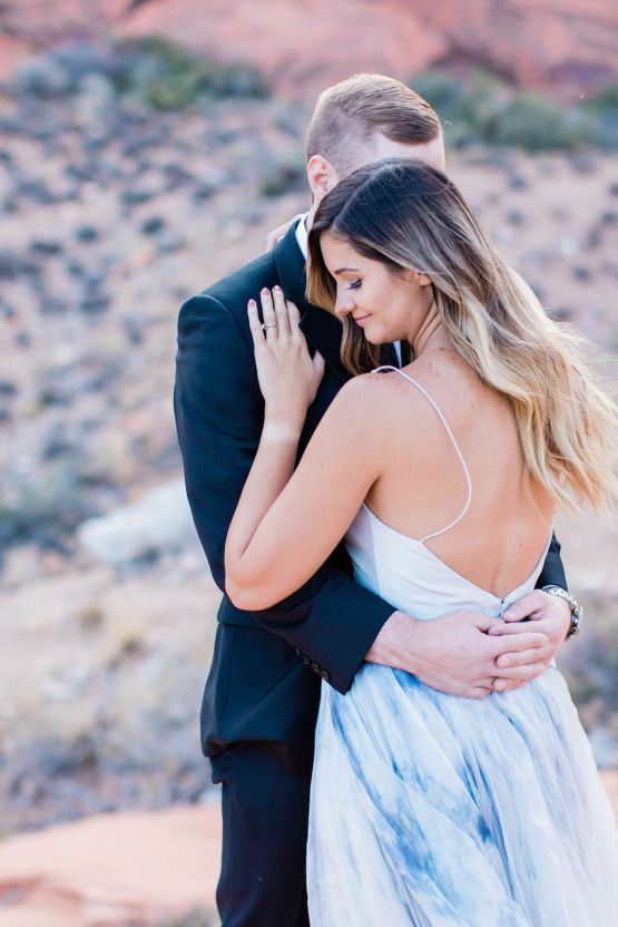 Red Rock Desert Romance With A Whimsical Blue Leanne Marshall Wedding Dress – Elizabeth M Photography 13