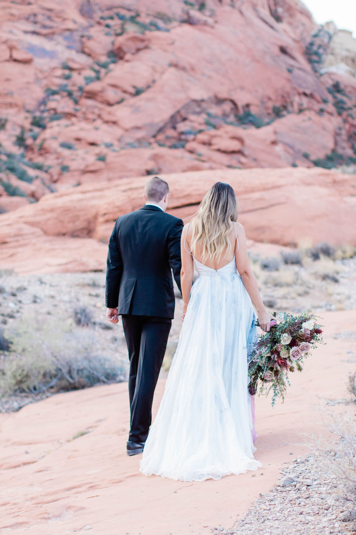 Red Rock Desert Romance With A Whimsical Blue Leanne Marshall Wedding Dress – Elizabeth M Photography 14