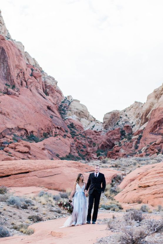Red Rock Desert Romance With A Whimsical Blue Leanne Marshall Wedding Dress – Elizabeth M Photography 15