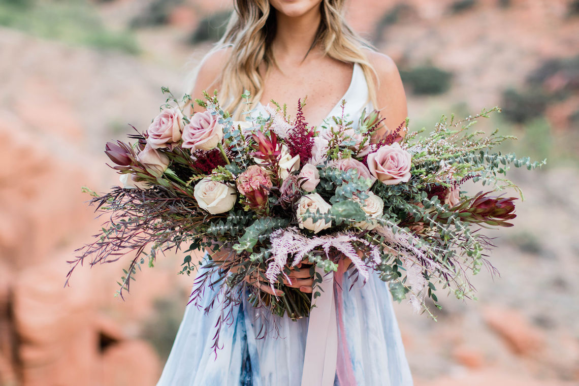 Red Rock Desert Romance With A Whimsical Blue Leanne Marshall Wedding Dress – Elizabeth M Photography 2