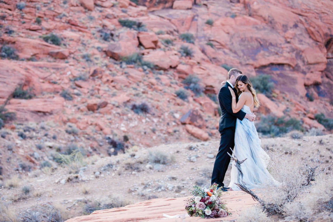 Red Rock Desert Romance With A Whimsical Blue Leanne Marshall Wedding Dress – Elizabeth M Photography 3
