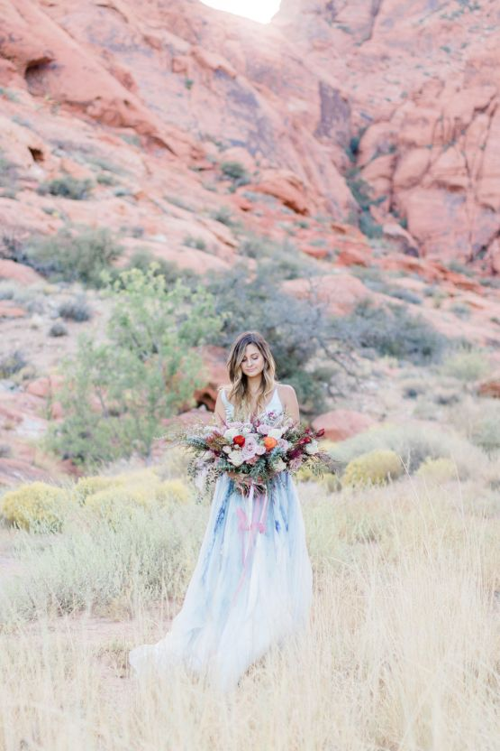 Red Rock Desert Romance With A Whimsical Blue Leanne Marshall Wedding Dress – Elizabeth M Photography 33