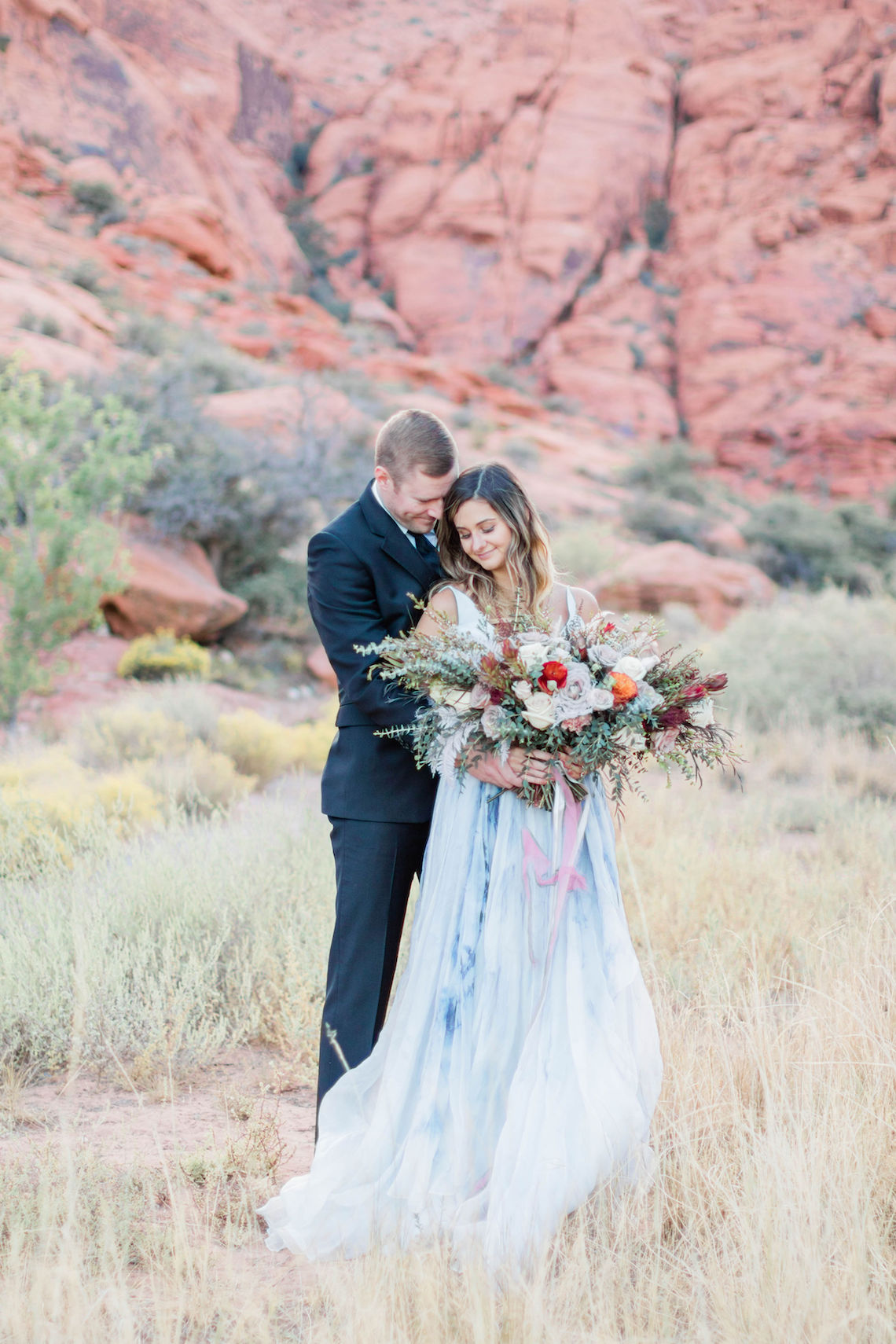 Red Rock Desert Romance With A Whimsical Blue Leanne Marshall Wedding Dress – Elizabeth M Photography 35