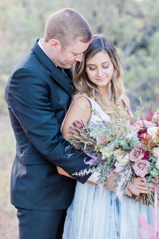 Red Rock Desert Romance With A Whimsical Blue Leanne Marshall Wedding Dress – Elizabeth M Photography 36