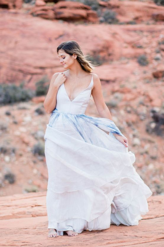 Red Rock Desert Romance With A Whimsical Blue Leanne Marshall Wedding Dress – Elizabeth M Photography 42
