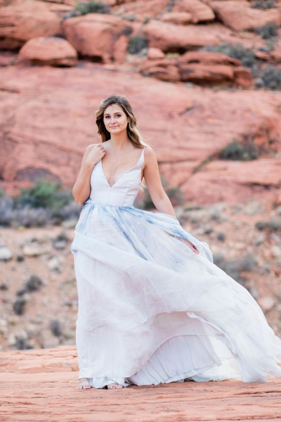 Red Rock Desert Romance With A Whimsical Blue Leanne Marshall Wedding Dress – Elizabeth M Photography 43