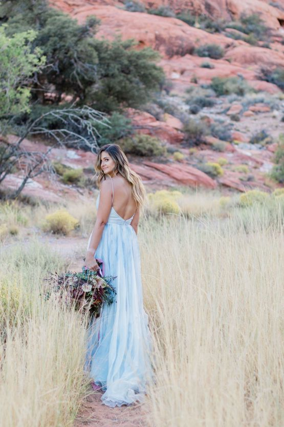 Red Rock Desert Romance With A Whimsical Blue Leanne Marshall Wedding Dress – Elizabeth M Photography 45