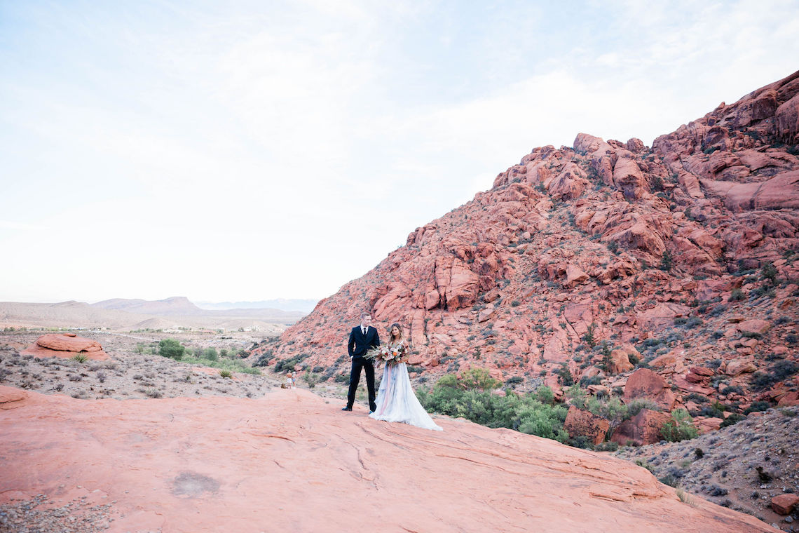 Red Rock Desert Romance With A Whimsical Blue Leanne Marshall Wedding Dress – Elizabeth M Photography 6