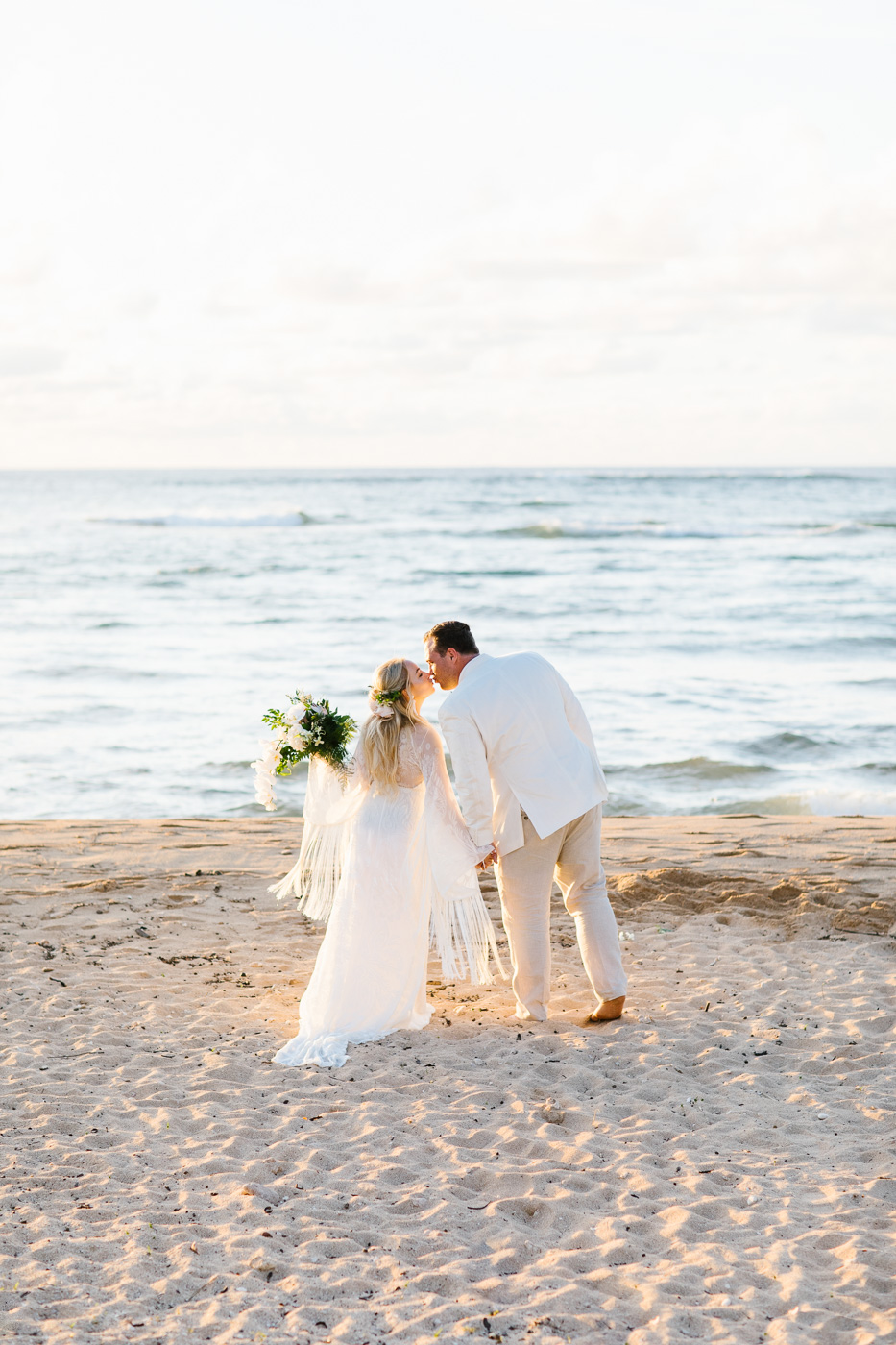 Relaxed Hawaiian Beach Wedding With Our Dream Rue De Seine Boho Wedding Dress – Absolutely Loved Photography 32