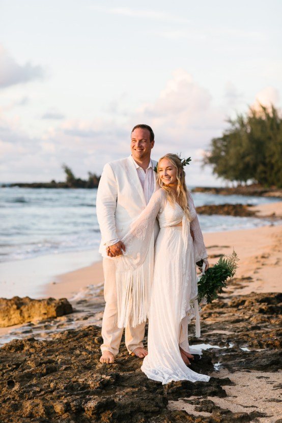 Relaxed Hawaiian Beach Wedding With Our Dream Rue De Seine Boho Wedding Dress – Absolutely Loved Photography 33