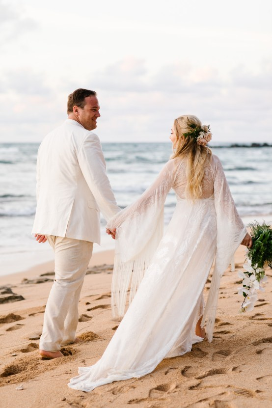 Relaxed Hawaiian Beach Wedding With Our Dream Rue De Seine Boho Wedding Dress – Absolutely Loved Photography 34