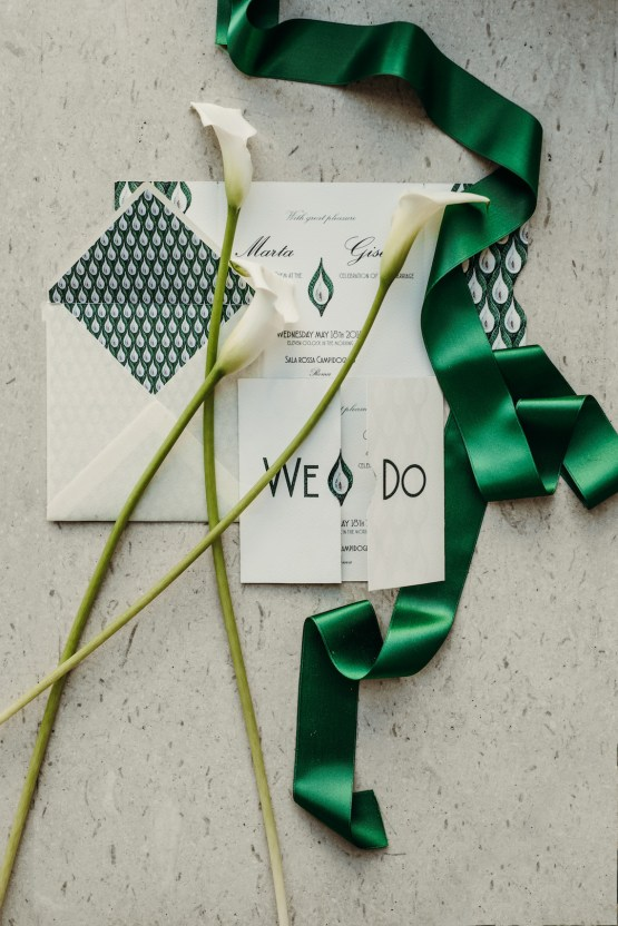 Sleek and Sexy Modern Wedding Inspiration in Emerald – Marcella Cistola 48