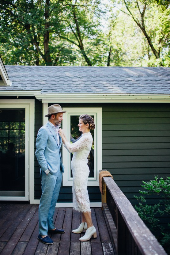 Adorable DIY Backyard Wedding in Upstate New York with a Rock and Roll Bride and Groom – Claire Eliza 12