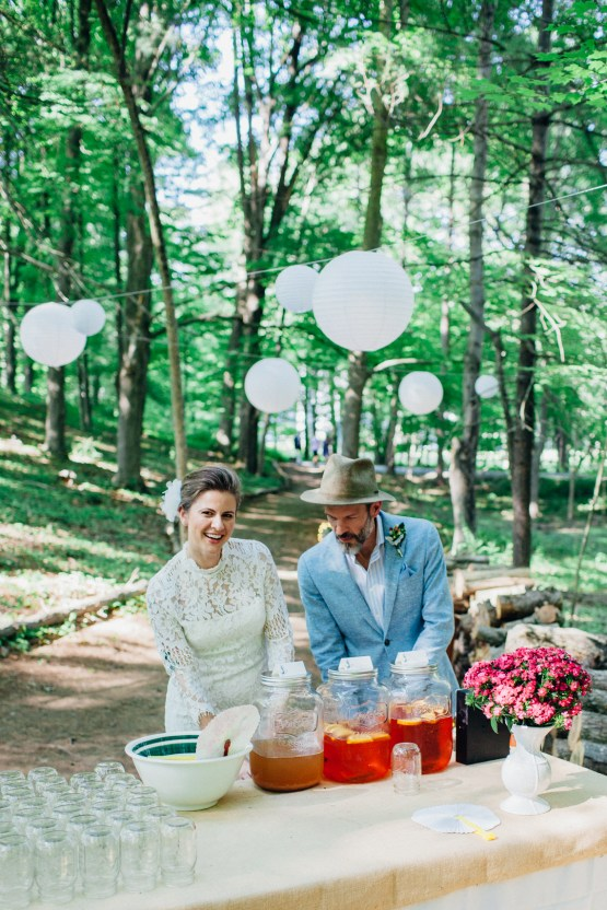Adorable DIY Backyard Wedding in Upstate New York with a Rock and Roll Bride and Groom – Claire Eliza 20