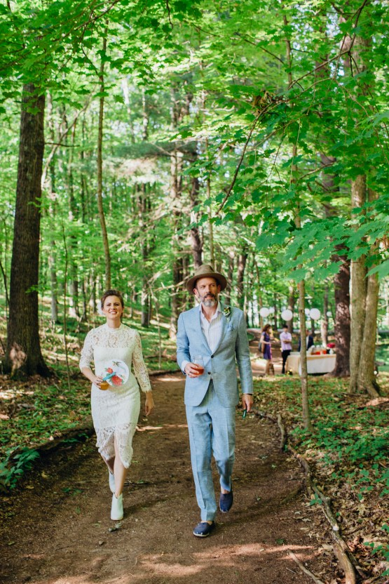 Adorable DIY Backyard Wedding in Upstate New York with a Rock and Roll Bride and Groom – Claire Eliza 21