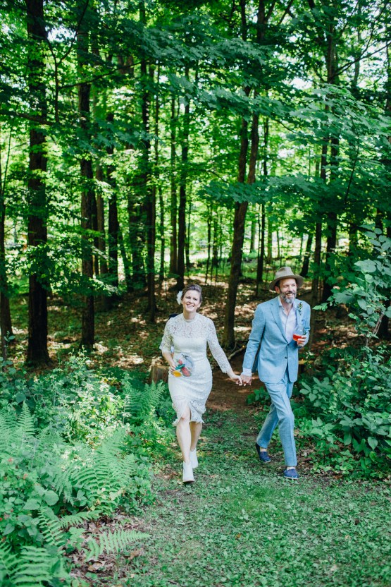 Adorable DIY Backyard Wedding in Upstate New York with a Rock and Roll Bride and Groom – Claire Eliza 22
