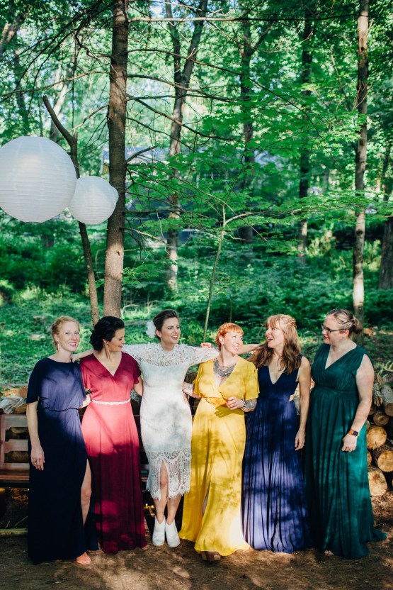 Adorable DIY Backyard Wedding in Upstate New York with a Rock and Roll Bride and Groom – Claire Eliza 29