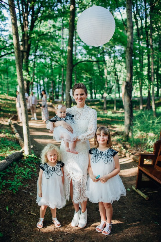 Adorable DIY Backyard Wedding in Upstate New York with a Rock and Roll Bride and Groom – Claire Eliza 31