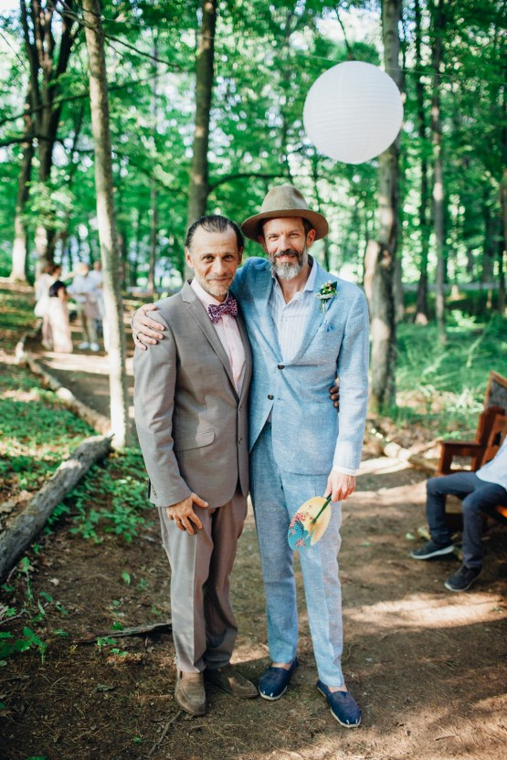 Adorable DIY Backyard Wedding in Upstate New York with a Rock and Roll Bride and Groom – Claire Eliza 32