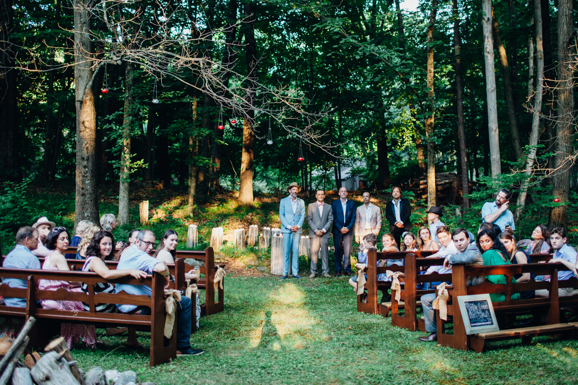 Adorable DIY Backyard Wedding in Upstate New York with a Rock and Roll Bride and Groom – Claire Eliza 38