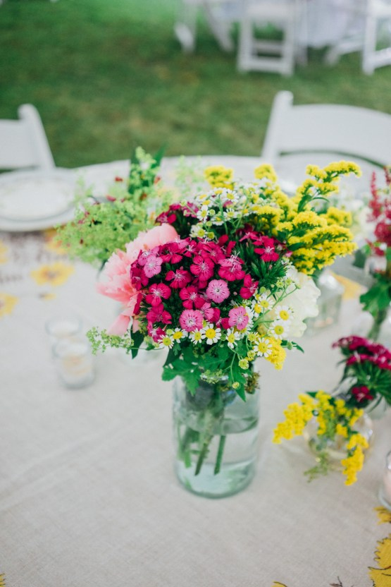 Adorable DIY Backyard Wedding in Upstate New York with a Rock and Roll Bride and Groom – Claire Eliza 5