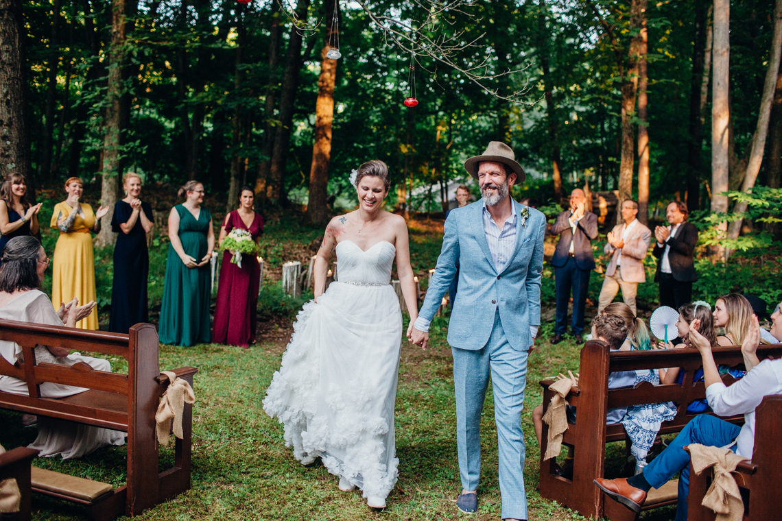 Adorable DIY Backyard Wedding in Upstate New York with a Rock and Roll Bride and Groom – Claire Eliza 50
