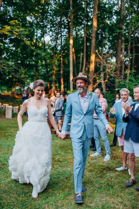 Adorable DIY Backyard Wedding in Upstate New York with a Rock and Roll Bride and Groom – Claire Eliza 52