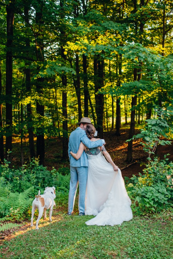 Adorable DIY Backyard Wedding in Upstate New York with a Rock and Roll Bride and Groom – Claire Eliza 53