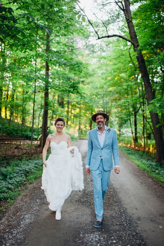 Adorable DIY Backyard Wedding in Upstate New York with a Rock and Roll Bride and Groom – Claire Eliza 60