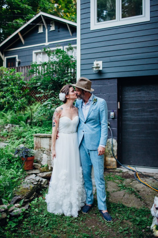 Adorable DIY Backyard Wedding in Upstate New York with a Rock and Roll Bride and Groom – Claire Eliza 61