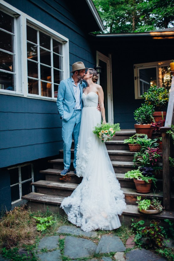 Adorable DIY Backyard Wedding in Upstate New York with a Rock and Roll Bride and Groom – Claire Eliza 65