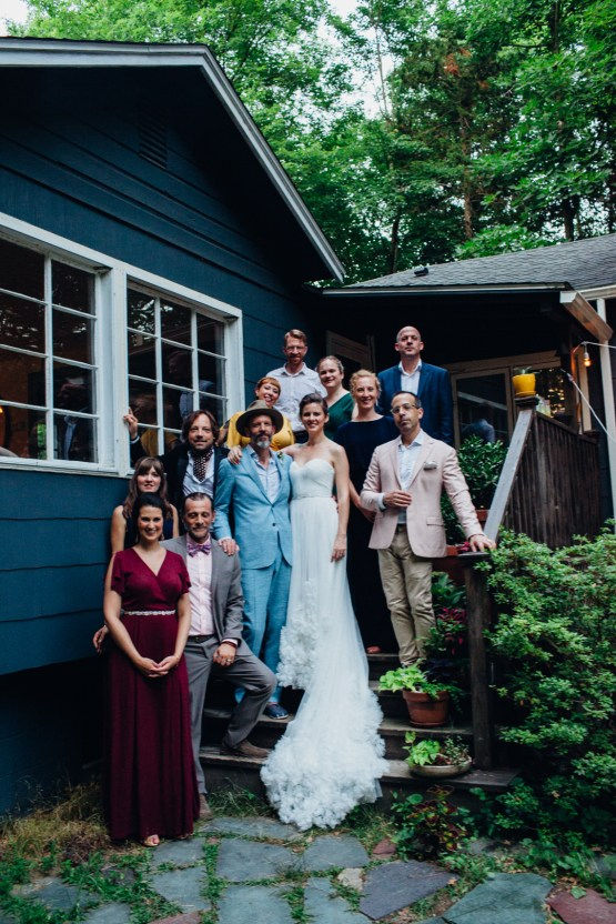 Adorable DIY Backyard Wedding in Upstate New York with a Rock and Roll Bride and Groom – Claire Eliza 66