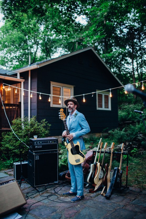 Adorable DIY Backyard Wedding in Upstate New York with a Rock and Roll Bride and Groom – Claire Eliza 70