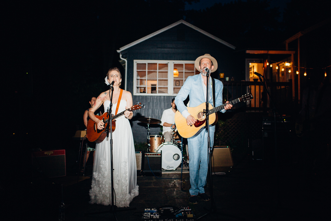 Adorable DIY Backyard Wedding in Upstate New York with a Rock and Roll Bride and Groom – Claire Eliza 72