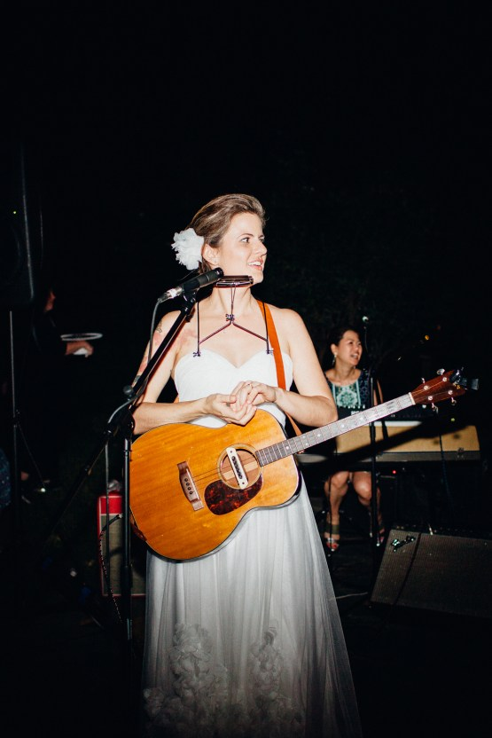 Adorable DIY Backyard Wedding in Upstate New York with a Rock and Roll Bride and Groom – Claire Eliza 78