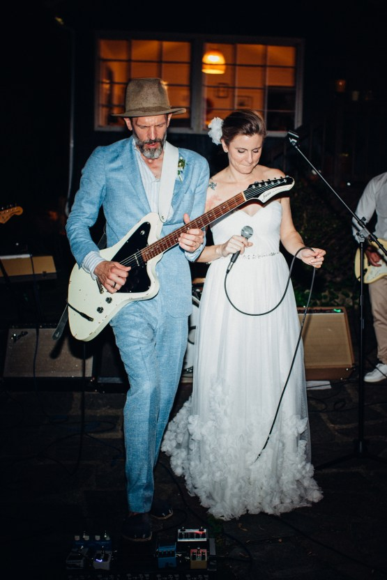 Adorable DIY Backyard Wedding in Upstate New York with a Rock and Roll Bride and Groom – Claire Eliza 80