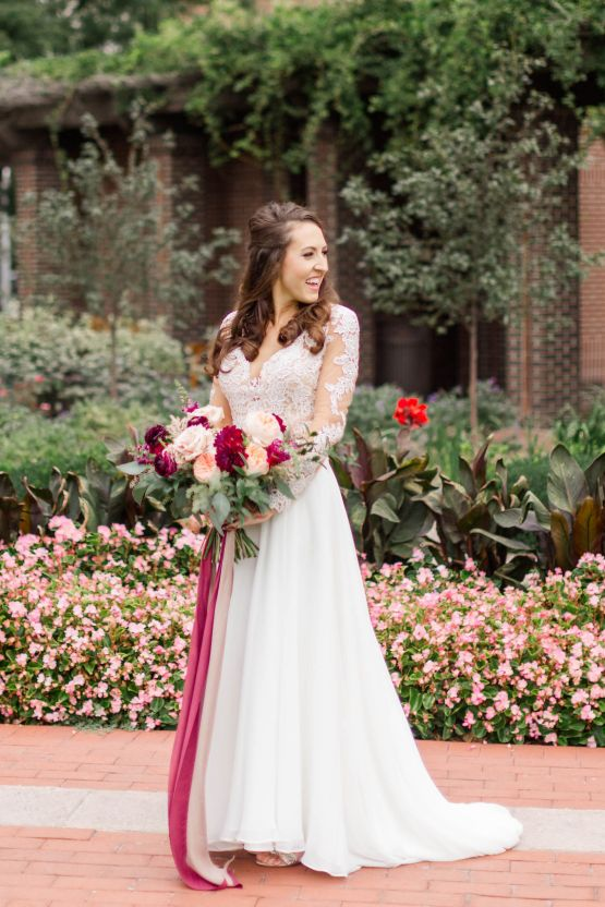 Beautiful Burgundy Hindu Fusion Wedding – Danielle Harris Photography 36