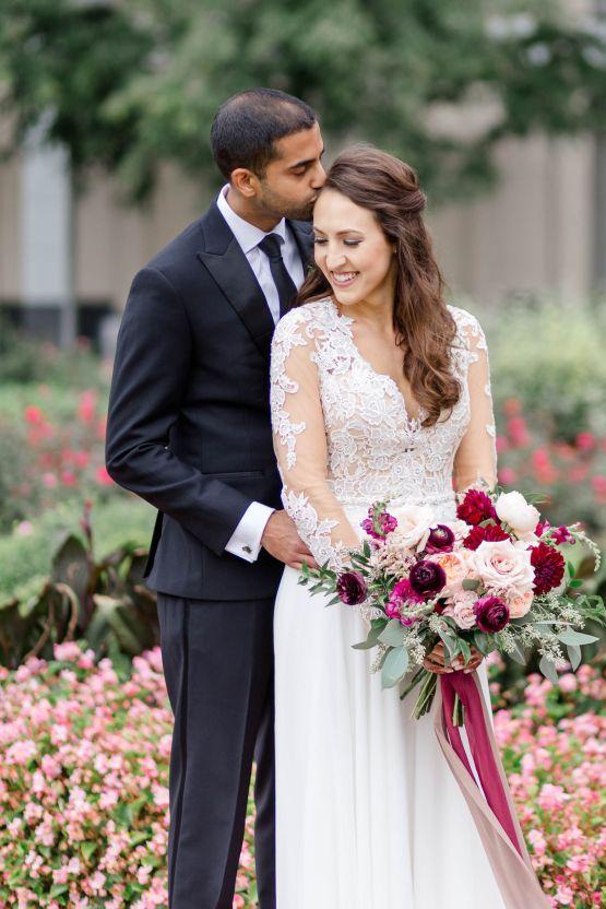 Beautiful Burgundy Hindu Fusion Wedding – Danielle Harris Photography 40