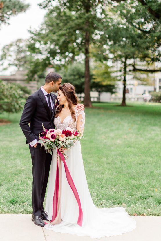 Beautiful Burgundy Hindu Fusion Wedding – Danielle Harris Photography 42