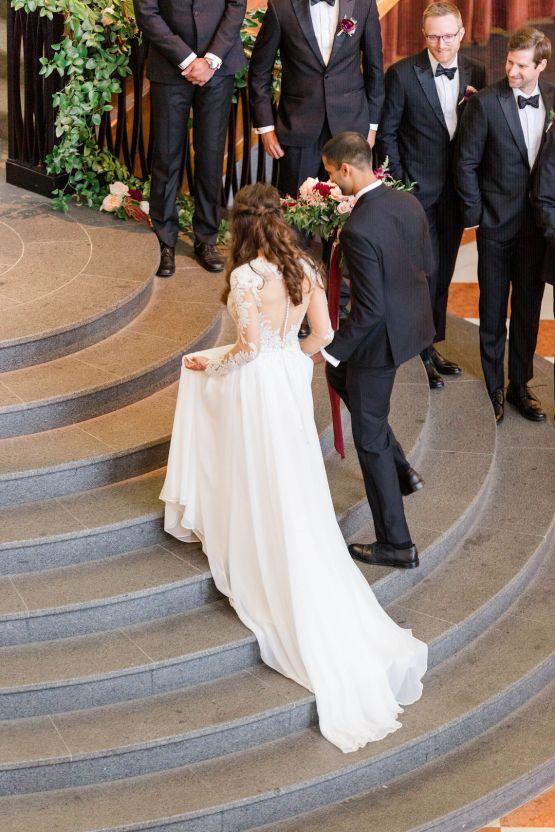 Beautiful Burgundy Hindu Fusion Wedding – Danielle Harris Photography 47